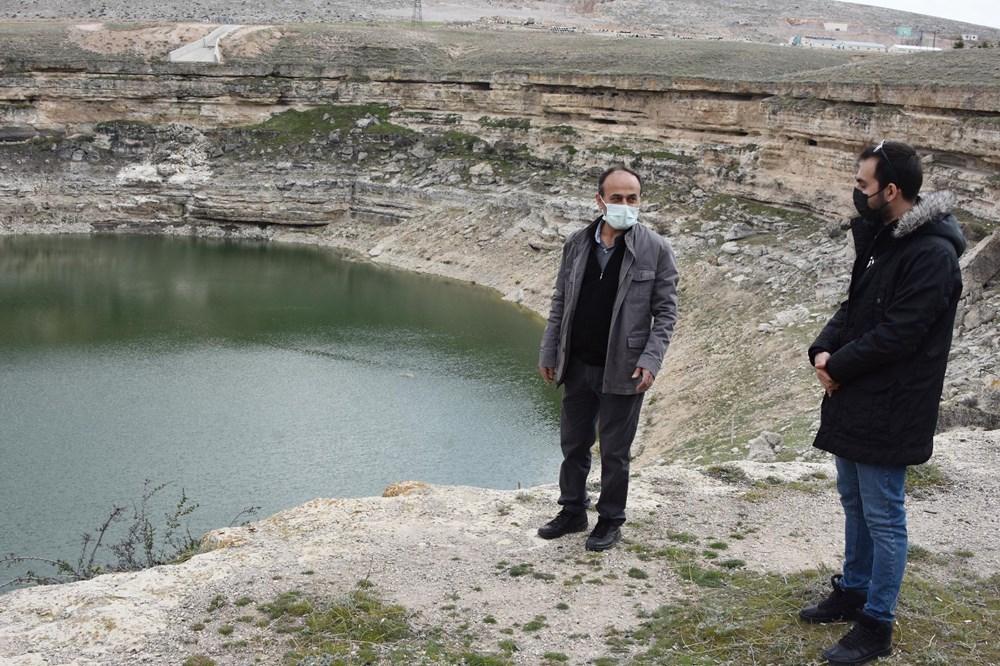 Timraş Obruk Gölü'nün suyu 8 metre azaldı - 5