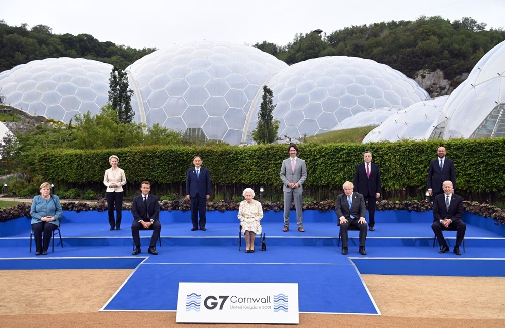 G7 ülkelerinin liderleri İngiltere'de buluştu - 3