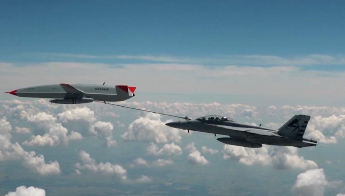 İlk kez gerçekleşti: Drone tankerden havada yakıt ikmali