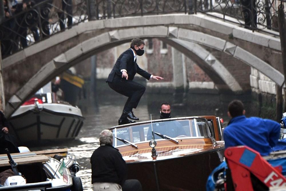 Tom Cruise Görevimiz Tehlike 7 filminin Venedik'teki setinde - 4