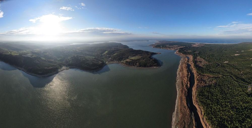 Terkos Gölü 100 metre çekildi, kirlilik ortaya çıktı - 7