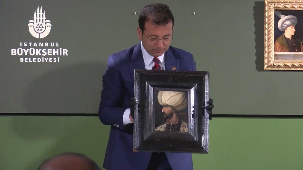 Kanuni Sultan Süleyman portresi Fatih Sultan Mehmet'in portresinin yanında - 2