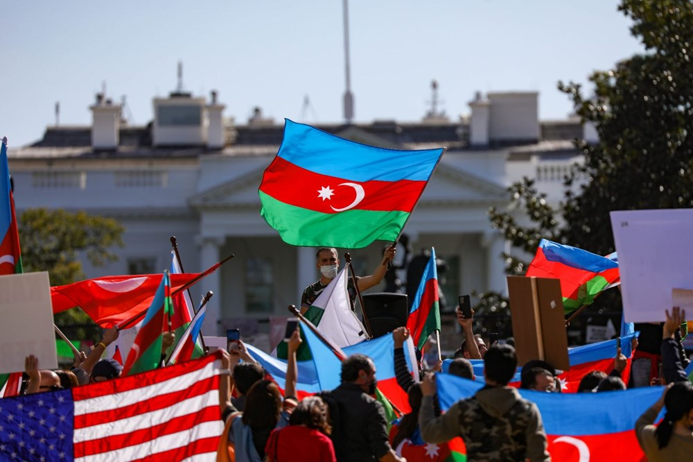 Beyaz Saray önünde Azerbaycan'a destek mitingi düzenlendi - 16