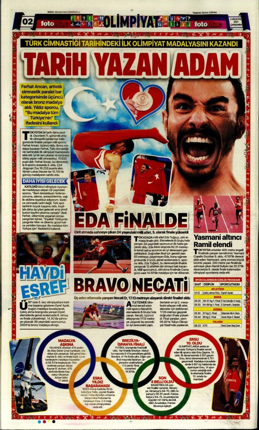 Günün spor manşetleri (4 Ağustos 2021) - 5
