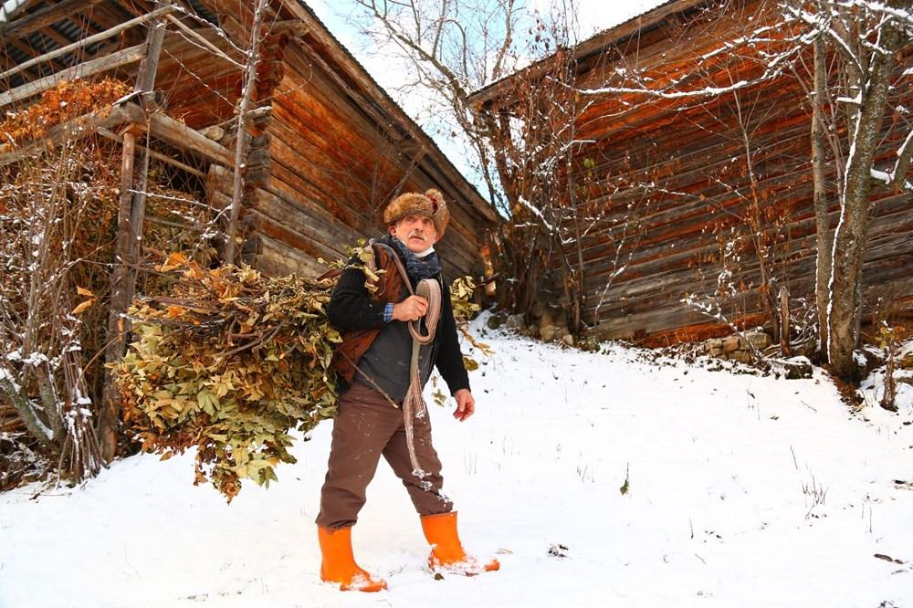 Artvin'deki 2 bin rakımlı Maden Köyü'nde kışı böyle geçiriyorlar - 2
