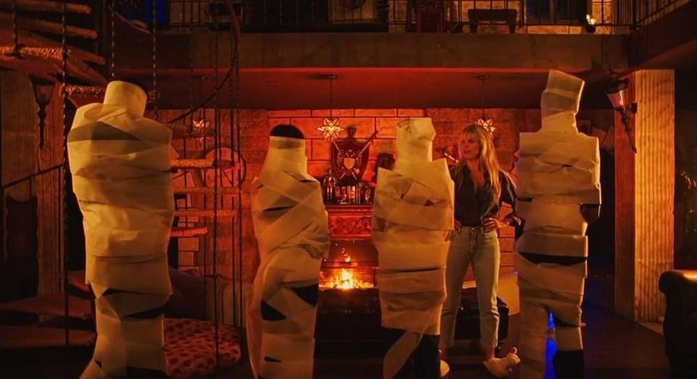 Heidi Klum Cadılar Bayramı'nda ailesiyle evde korku filmi çekti - 2