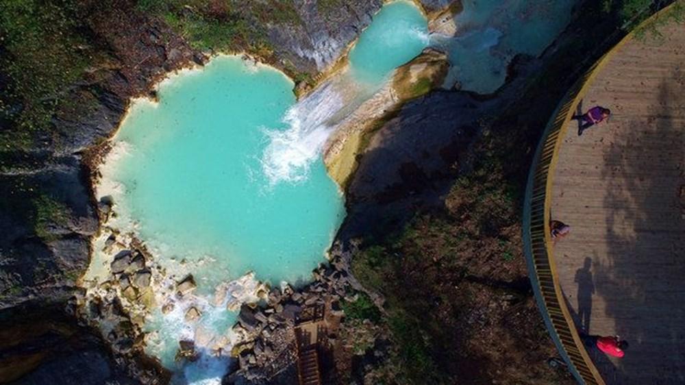 Giresun'un saklı cenneti Mavigöl, pandemide gezginlerin uğrak yeri oldu - 11