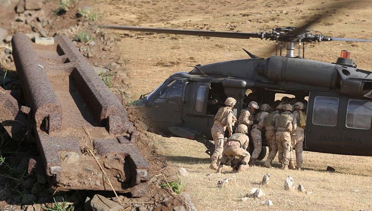 Tunceli'de Birinci Dünya Savaşı'ndan kalma top parçaları, askeri helikopterle Kent Müzesine taşındı
