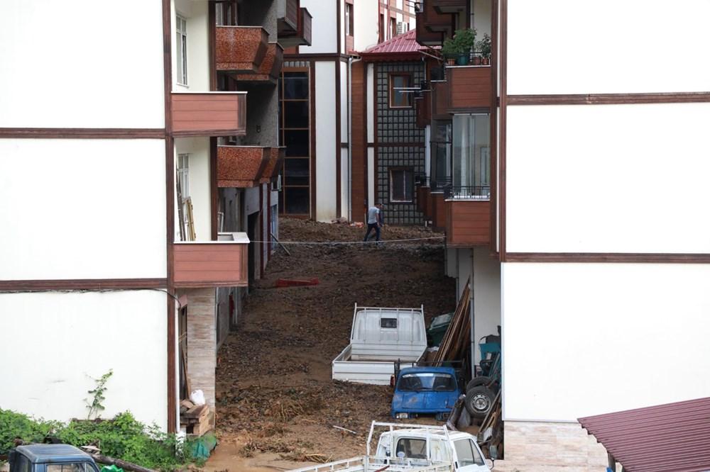 Rize'de sel ve heyelan afetinin hasarı gün ağarınca ortaya çıktı - 23