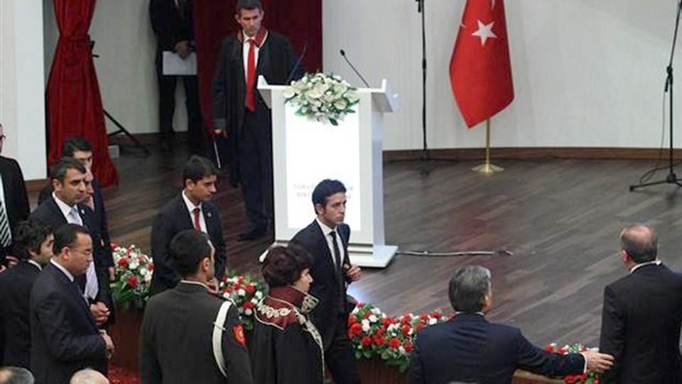 İki yıl önceki Danıştay töreninde Metin Feyzioğlu'nun konuşmasına tepki gösteren Erdoğan, salonu terk etmişti.