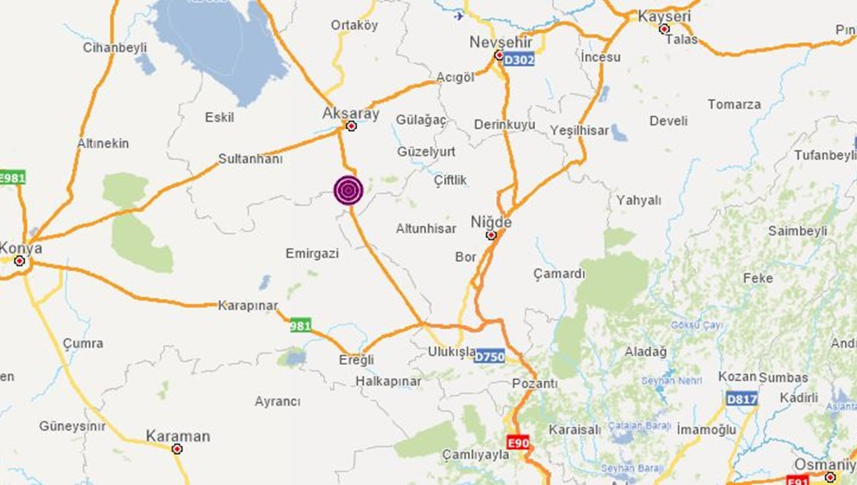 SON DAKİKA HABERİ: Aksaray'da 4,4 büyüklüğünde deprem