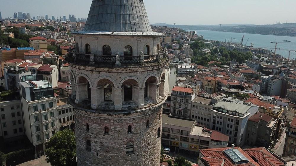 Galata Kulesi'nde restorasyon başladı - 6