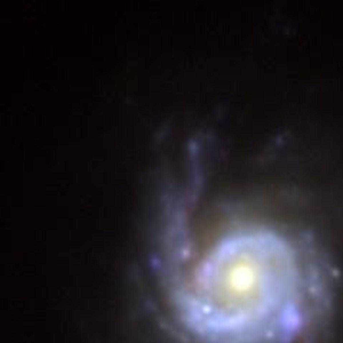 Süpernovanın yakınlaştırılmış ve düzenlenmiş hali