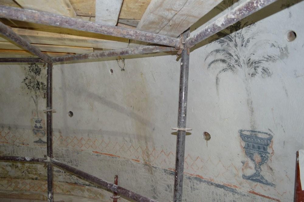 Tarihi camideki restorasyonda Osmanlı motifleri ortaya çıktı - 2