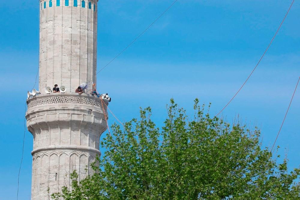 Ayasofya Camii'ne 87 yıl sonra ilk mahya asıldı - 5