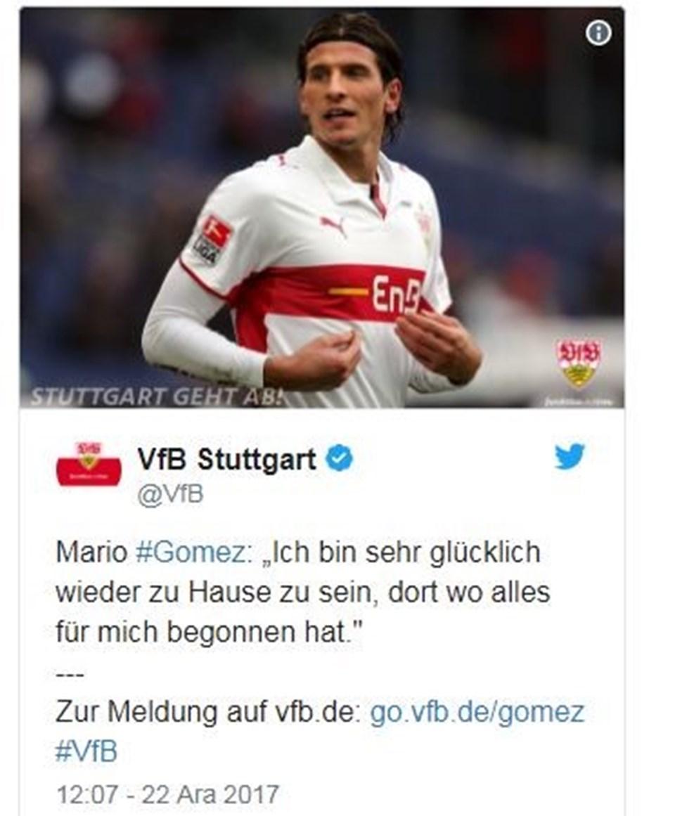 Stuttgart kulübü transferi Gomez'in 2001'deki kırmızı-beyaz forması ile duyurdu, 'Eve hoşgeldin' dedi...