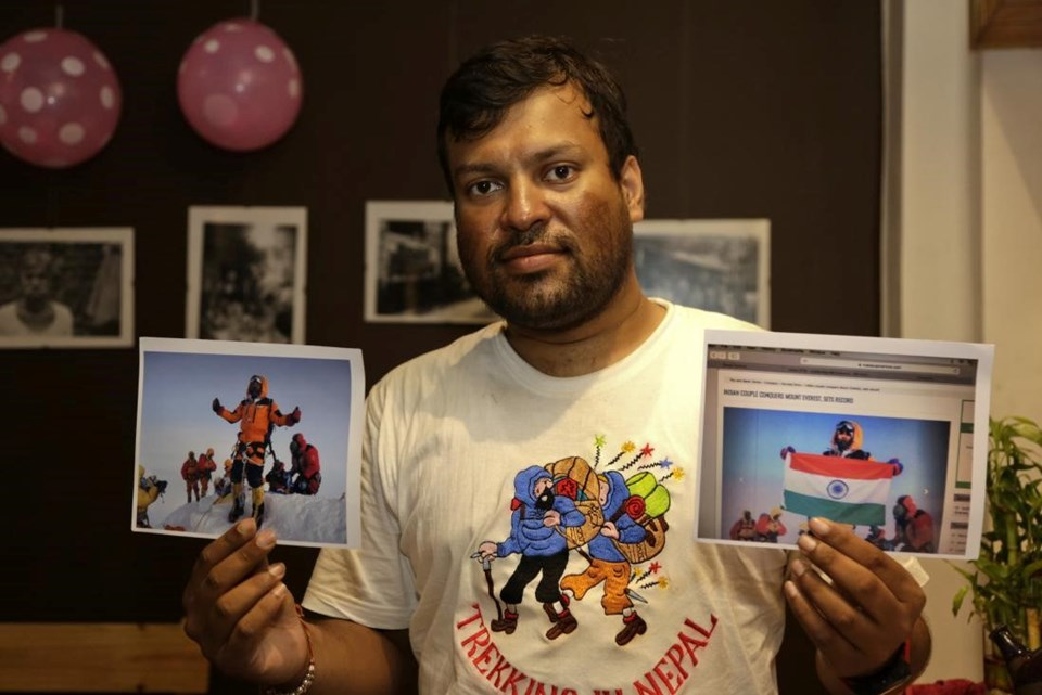 Hileli fotoğrafın orjinalinde zirveye çıkmayı başaran Hintli dağcı Satyarup Sidhantha