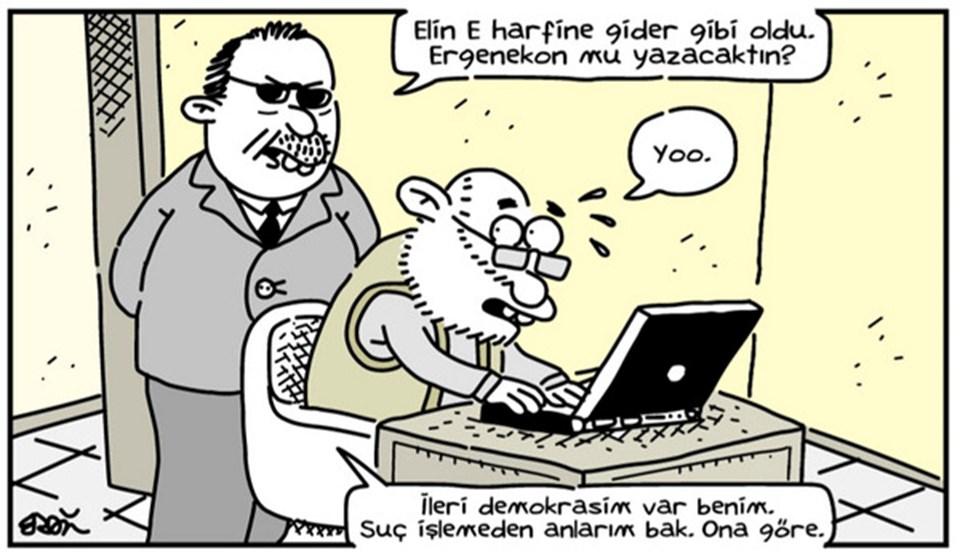Penguen dergisi çizerlerinden Erdil Yaşaroğlu iki hafta önce çizdiği karikatür.