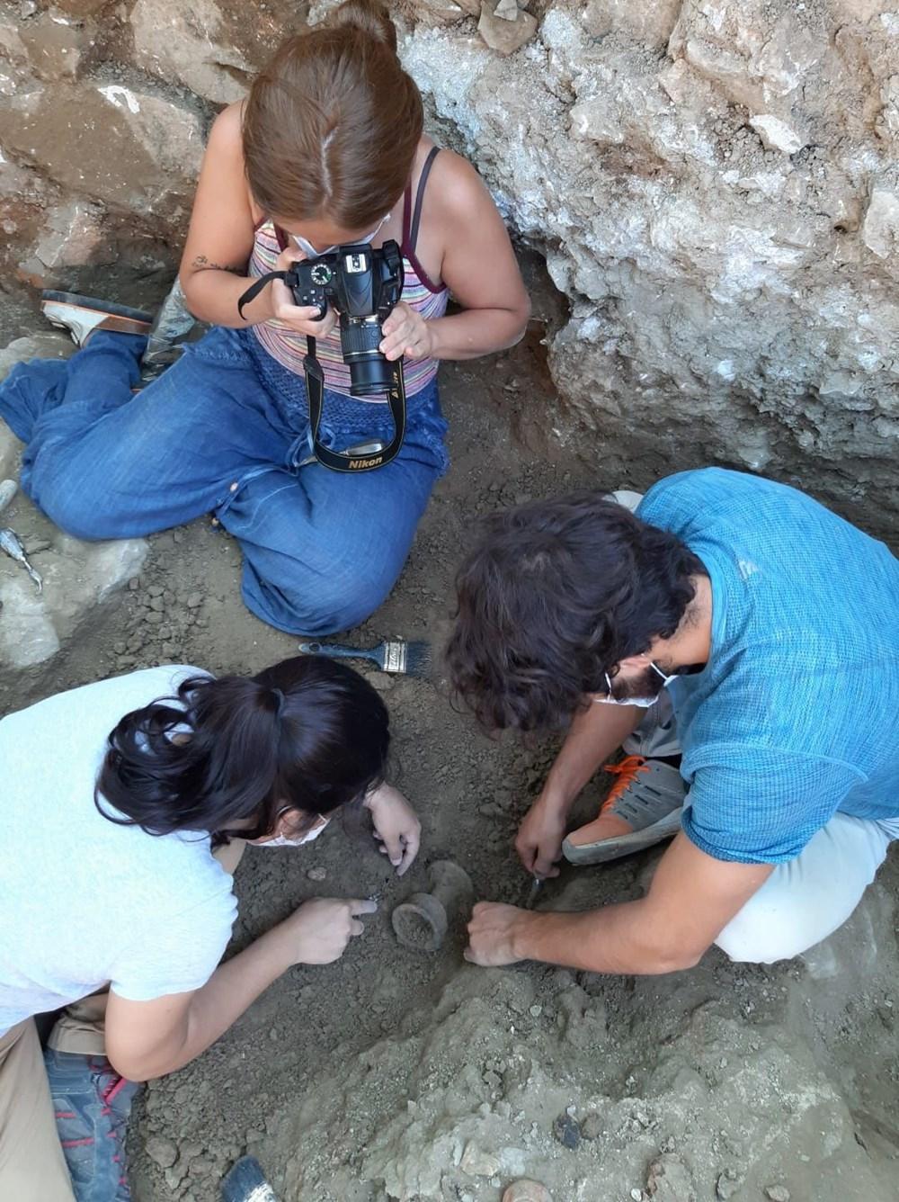 Myra Antik Kenti'nde hepsi bir arada 50'den fazla heykelcik bulundu - 13