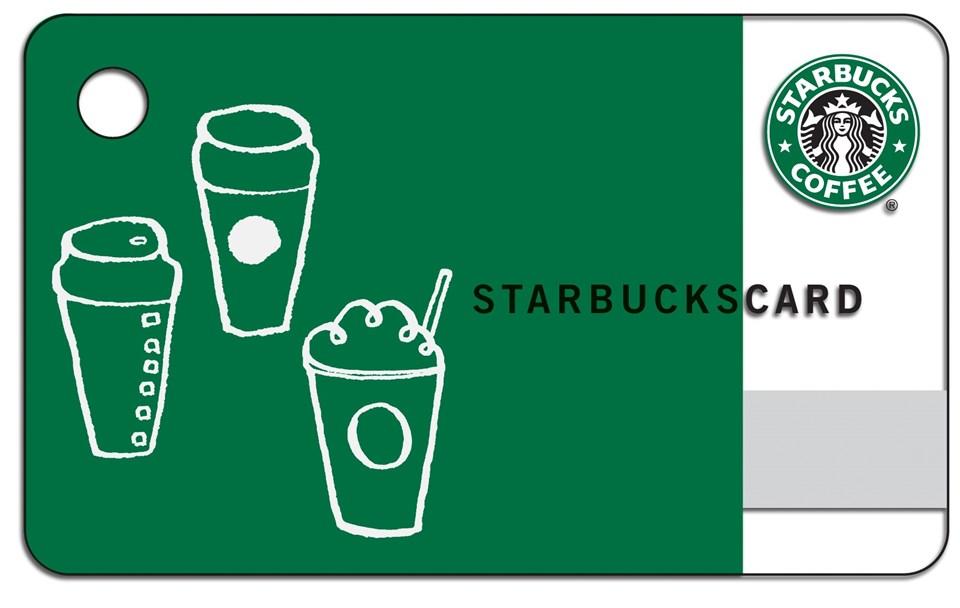 Ön yüklemeli Starbucks kahve kartı