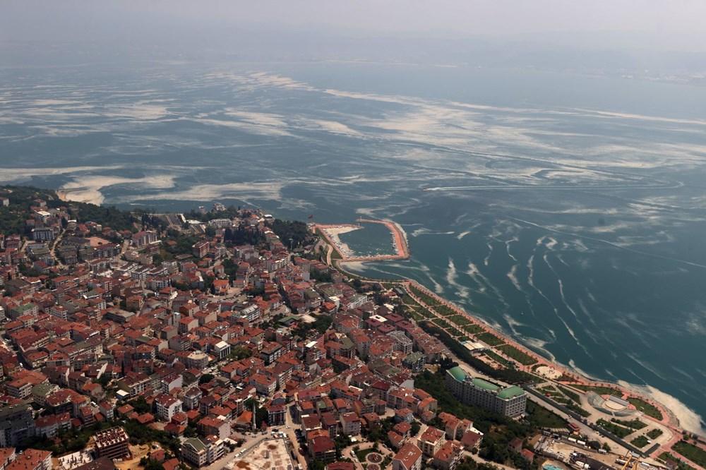 Müsilaj havadan görüntülendi: Deniz salyası her yerde - 3