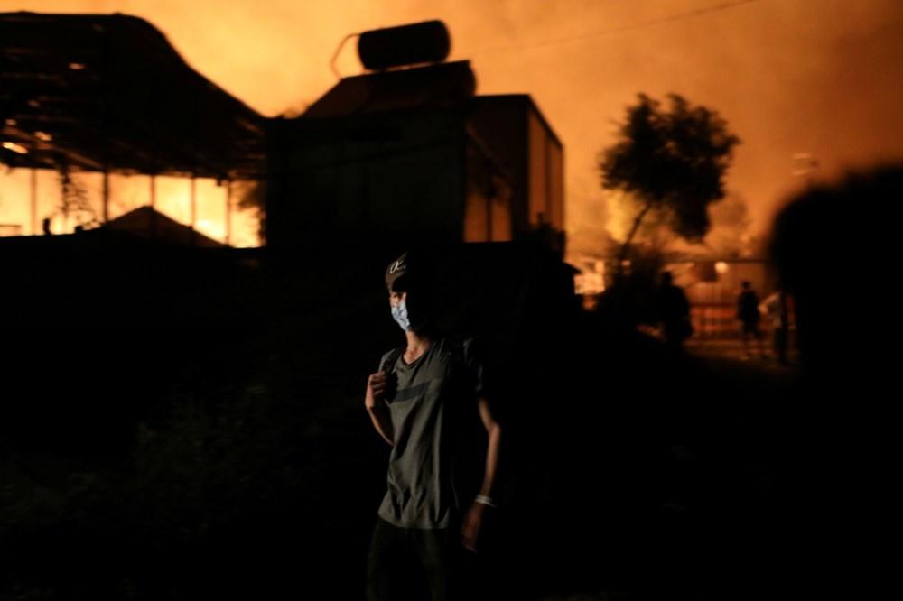 Midilli'deki sığınmacı kampında yangın - 8
