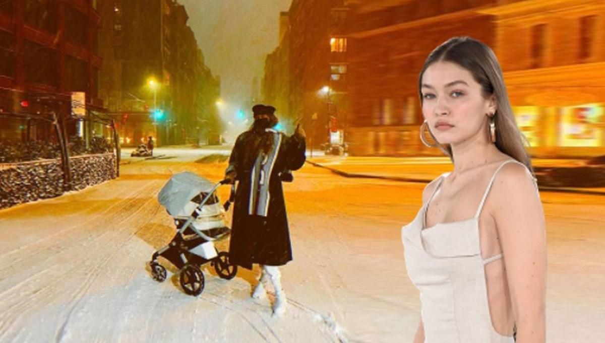 "Gigi Hadid New York sokaklarında: Onun ilk karı<br /></noscript>"" /></p><p>ABD'li model Gigi Hadid üç aylık bebeğini New York sokaklarında karla ilk kez tanıştırdı. Hadid yayınladığı kareye, ""Onun ilk karı"" mesajını yazdı.</p><section class="