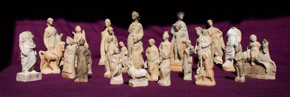 Myra Antik Kenti'nde hepsi bir arada 50'den fazla heykelcik bulundu - 4