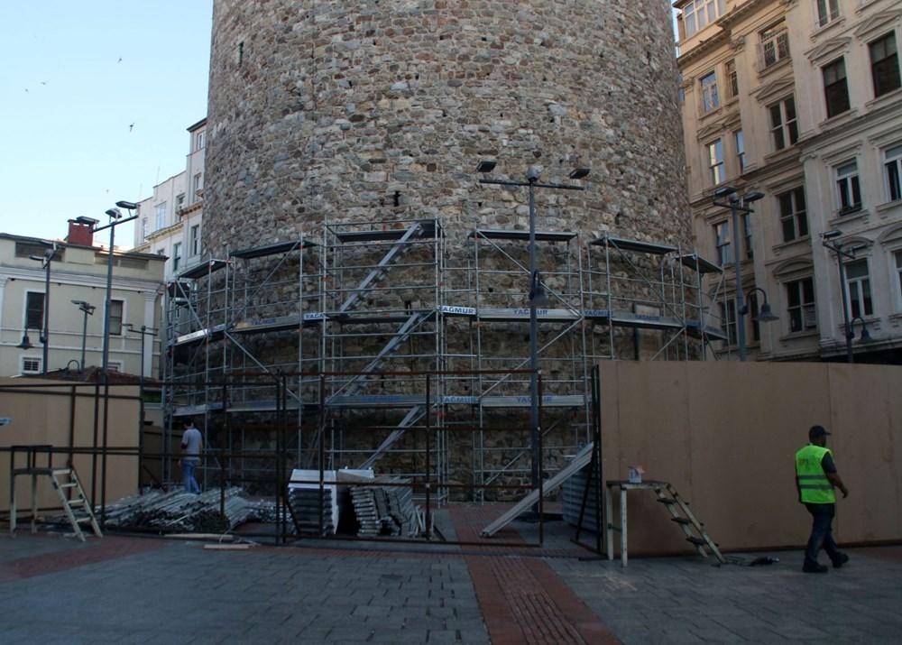 Galata Kulesi'nde restorasyon başladı - 13