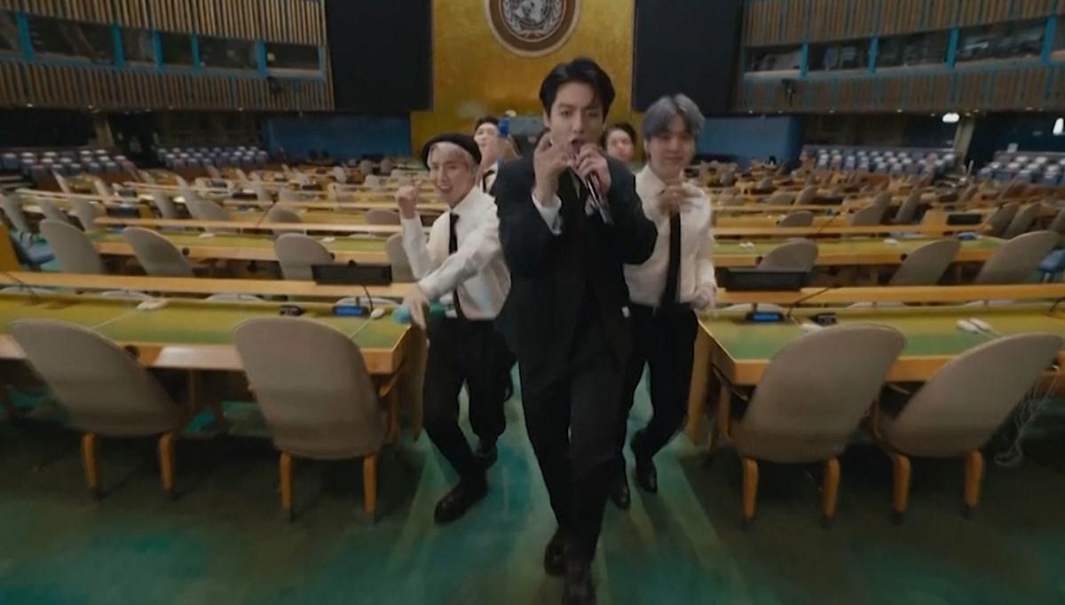 Dünyaca ünlü Koreli grup, BM'de klip çekti