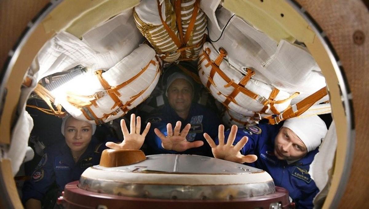 Dünyanın uzayda çekilen ilk filmi Vyzov'un (Sınanma) iki sahnesi tamamlandı