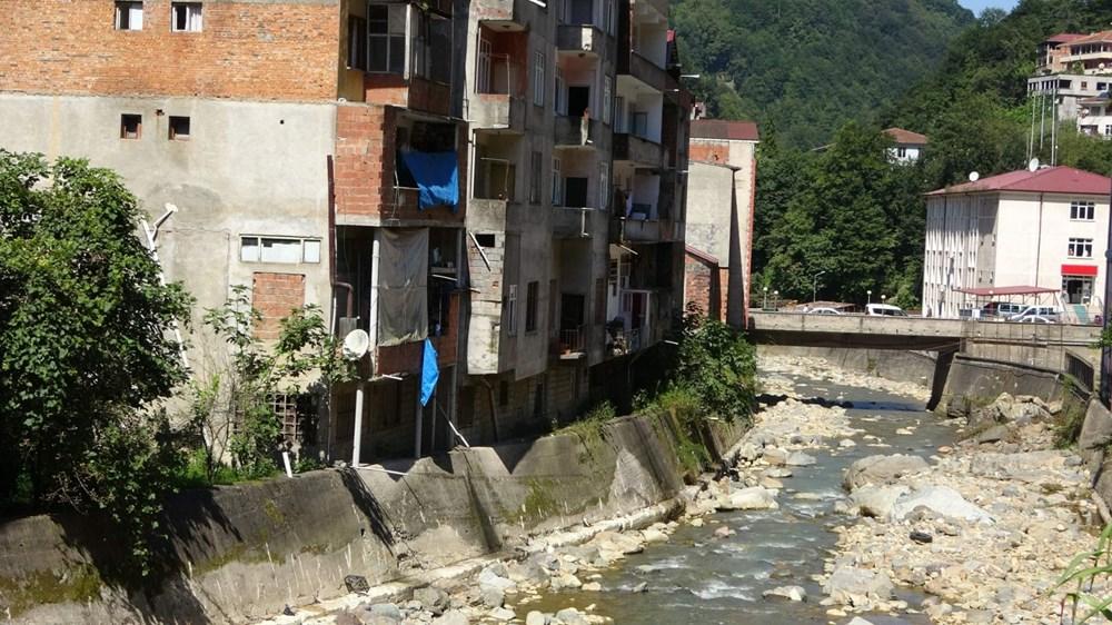 Trabzon'da tedirgin eden görüntü: Giresun'un Dereli ilçesi gibi sel riski taşıyor - 10