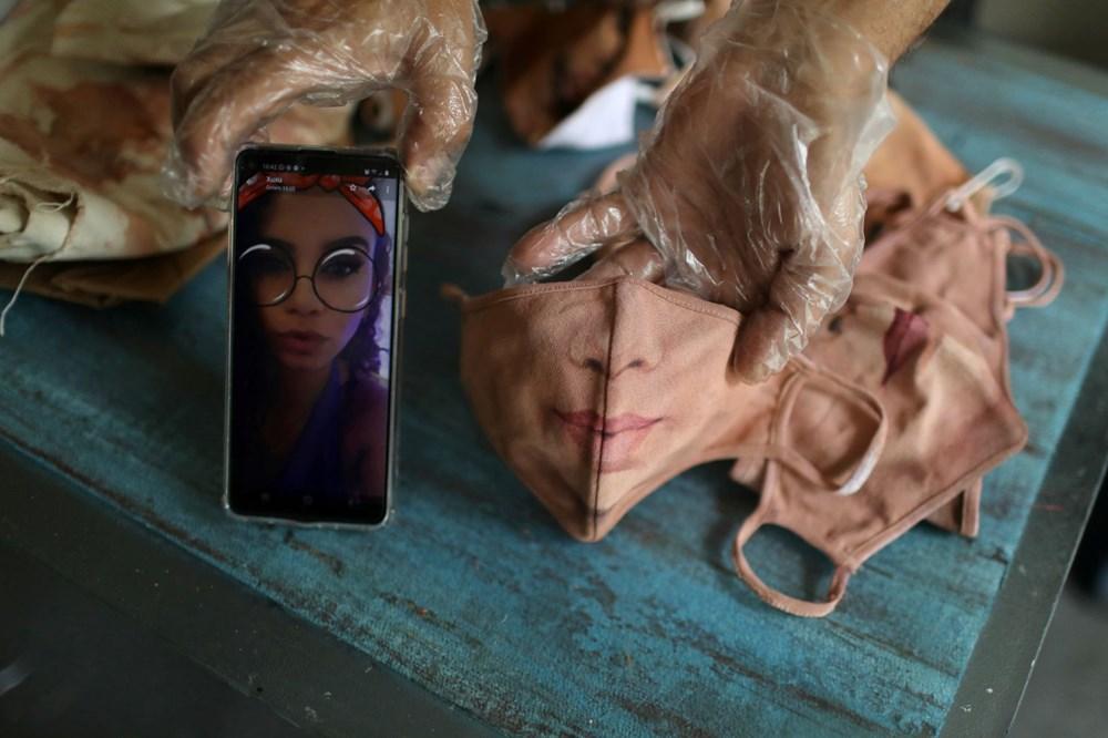 Brezilyalı sanatçıdan insanların yüzlerini gerçekçi bir şekilde tamamlayan maskeler - 4