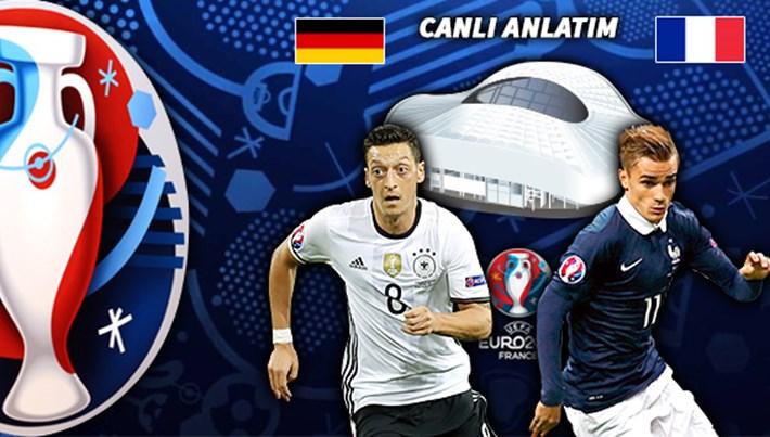 Almanya-Fransa maçı hangi kanalda, saat kaçta? (EURO 2016 yarı final)