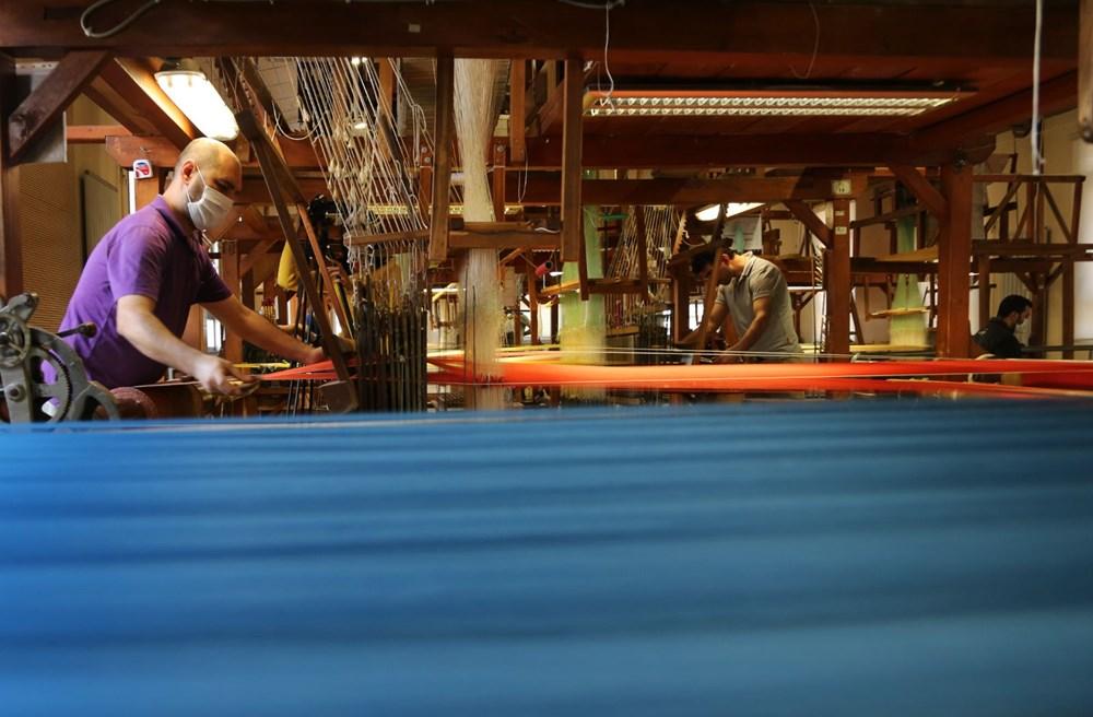 178 yıllık Osmanlı yadigarı fabrikada, Topkapı Sarayı'nın has oda halısı dokunuyor - 5
