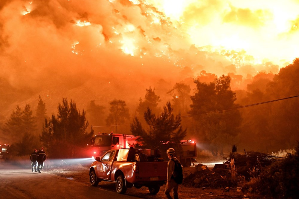 Forest fire in Greece: Extinguishing work continues - 1