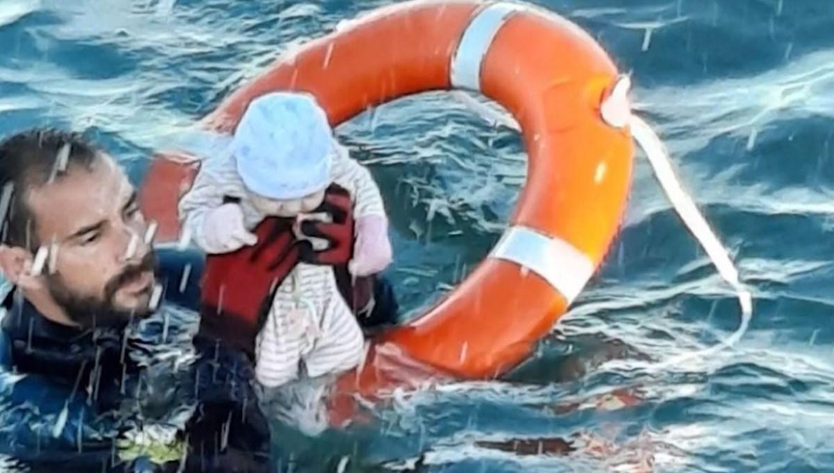 Denizde kaybolan iki aylık bebeği yakalamayı başardı