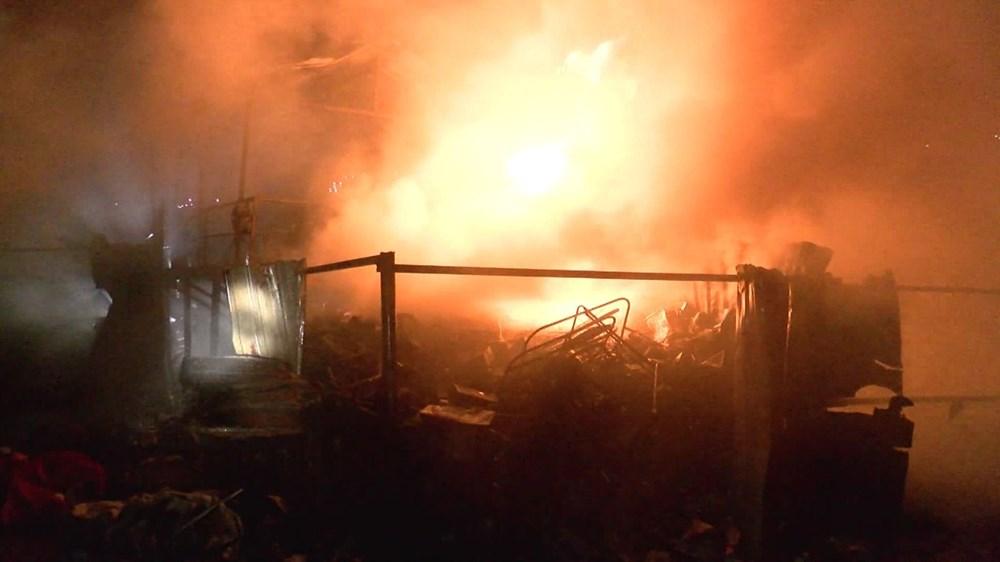 Samsun'da geri dönüşüm deposunda yangın - 4