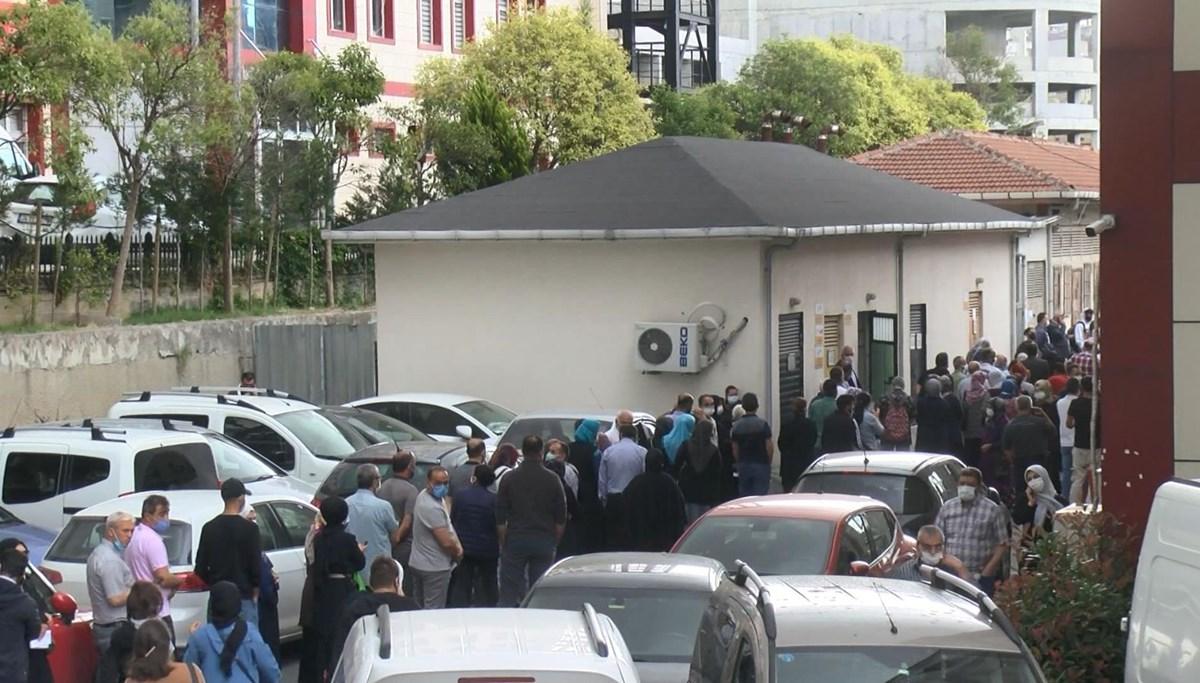 Vaccine queue in hospitals in Istanbul