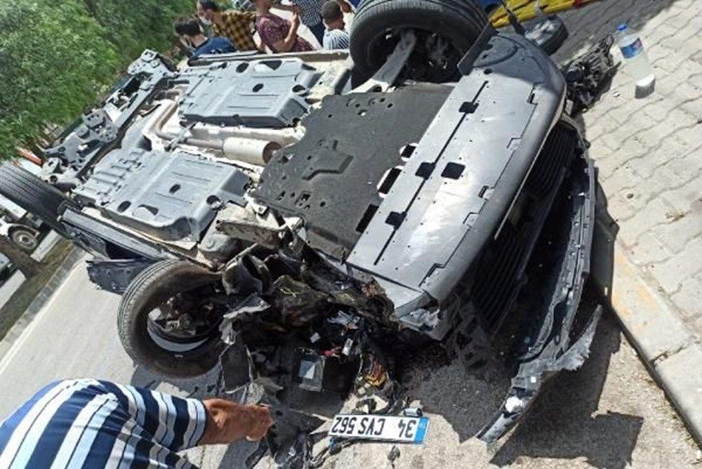 Otomobili takla atan oyuncu İlker Aksum'dan açıklama - 2