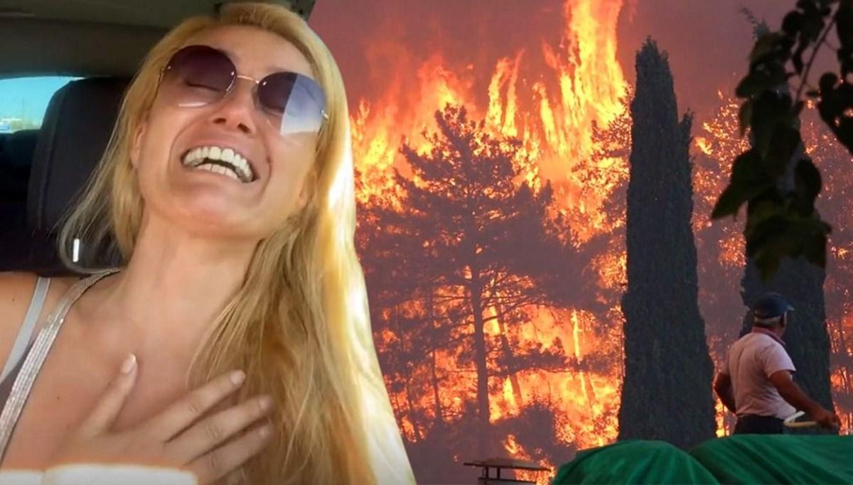 Tuğba Özay'ın gözyaşları: Çiftliğimiz yanıyor, canlılar ölüyor