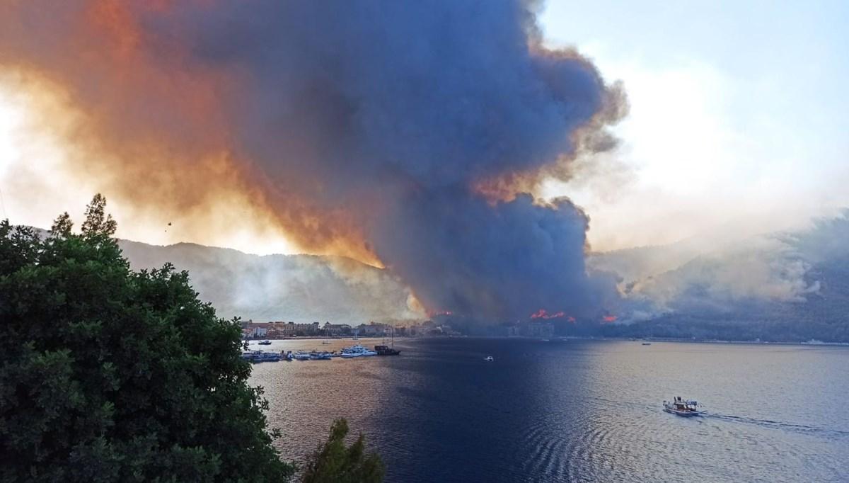 Marmaris'teki yangından kareler