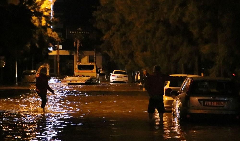 İzmir'de yağışın ardından deniz taştı: Aranan 2 kişinin cansız bedenine ulaşıldı - 11