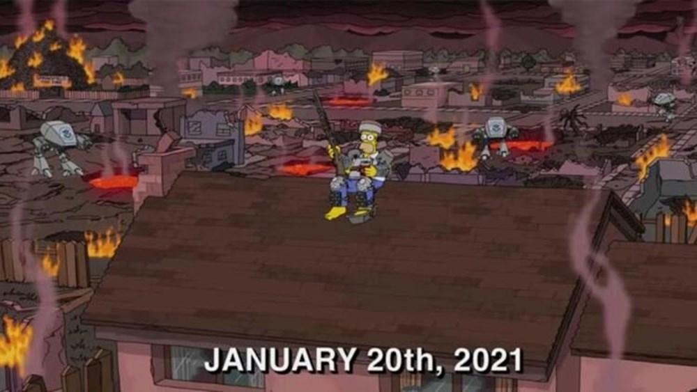 Simpsonlar'ın (The Simpsons) kehaneti yine tuttu: Biden ve Harris'in yemin törenini 20 yıl önceden bildiler - 5