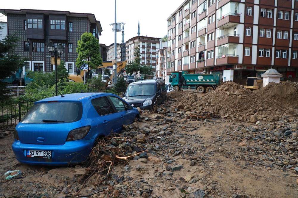 Rize'de sel ve heyelan afetinin hasarı gün ağarınca ortaya çıktı - 21