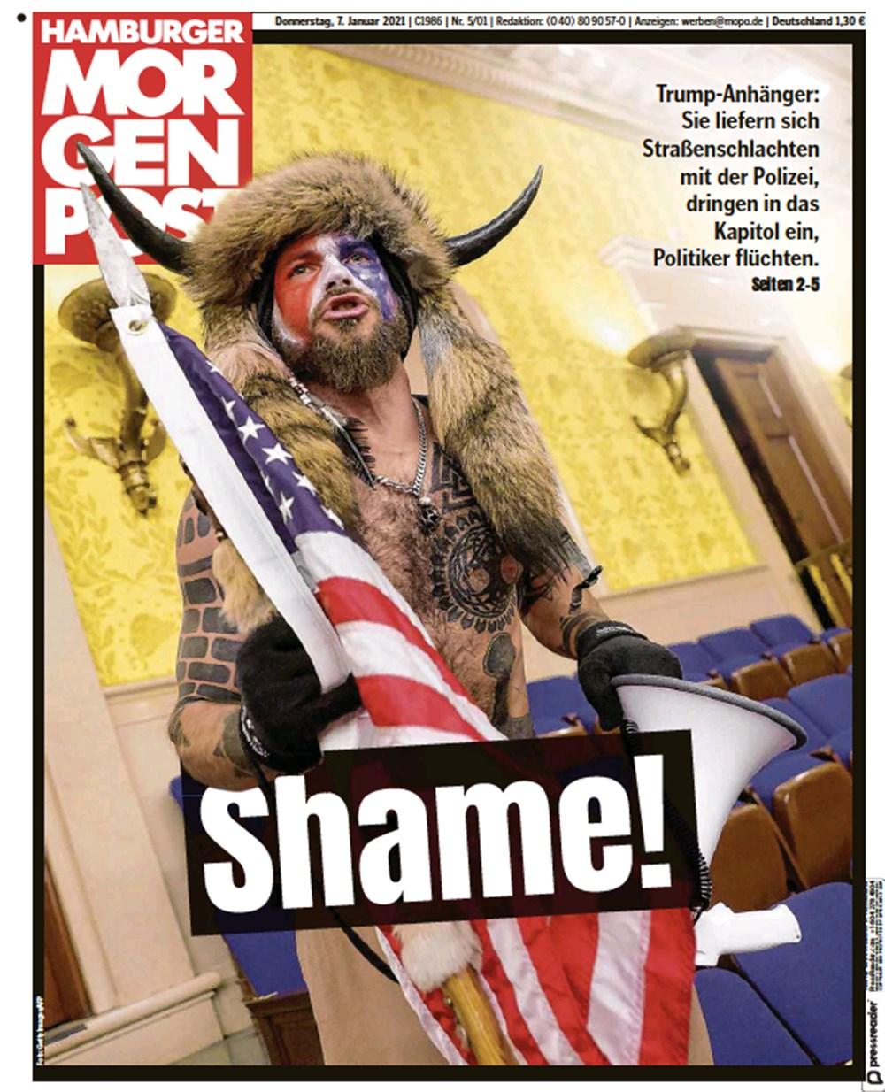 """""""ABD'de Anarşi"""": Trump destekçilerinin Kongre işgalini dünya basını nasıl gördü? - 6"""