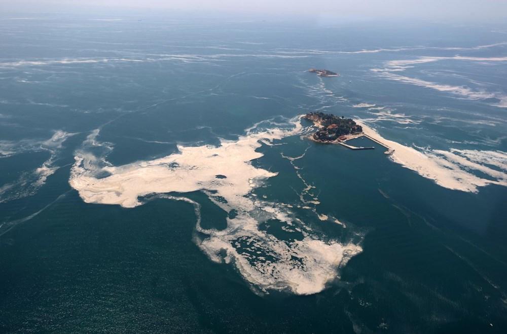 Müsilaj havadan görüntülendi: Deniz salyası her yerde - 11