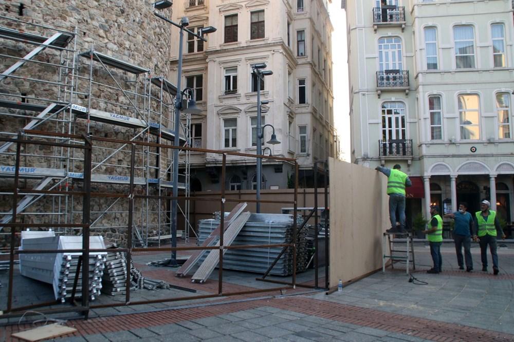 Galata Kulesi'nde restorasyon başladı - 14