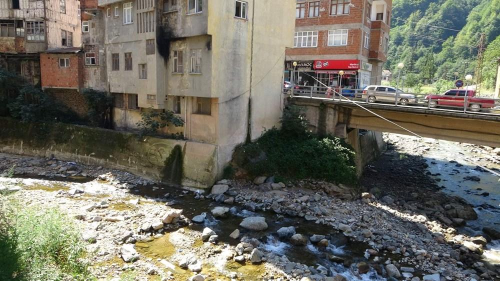 Trabzon'da tedirgin eden görüntü: Giresun'un Dereli ilçesi gibi sel riski taşıyor - 12