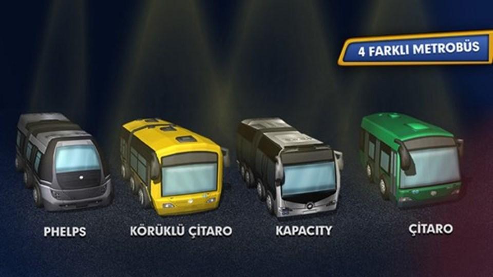 3D grafiklerin olduğu oyun Boğaz Köprüsü, İstanbul haritası ve 4 farklı metrobüs seçeneği sunuyor